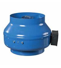 Ventilator centrifugal, in carcasa metalica, 100mm, albastru, Vents, IP44