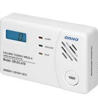Detector de monoxid de carbon, digital, alb, IP42, ORNO