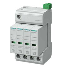 Descarcator la supratensiune Siemens, 3+1, debrosabil cu semnalizare, 4P, tip C, 240/415VAC